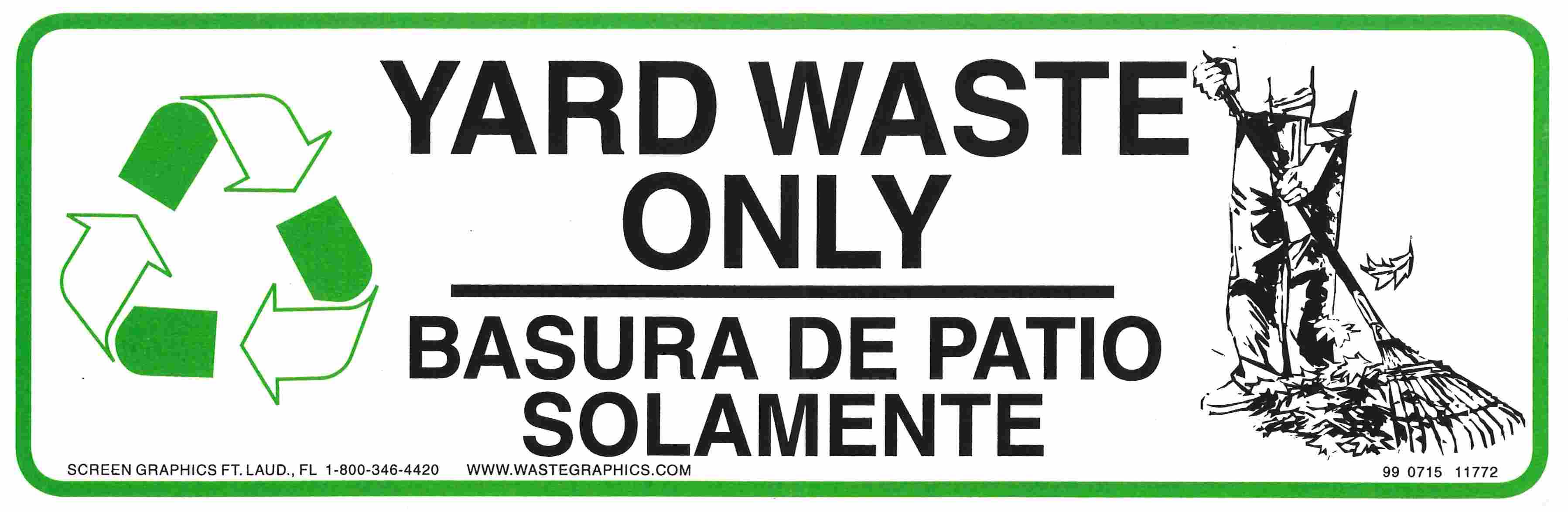 Yard Waste sticker image