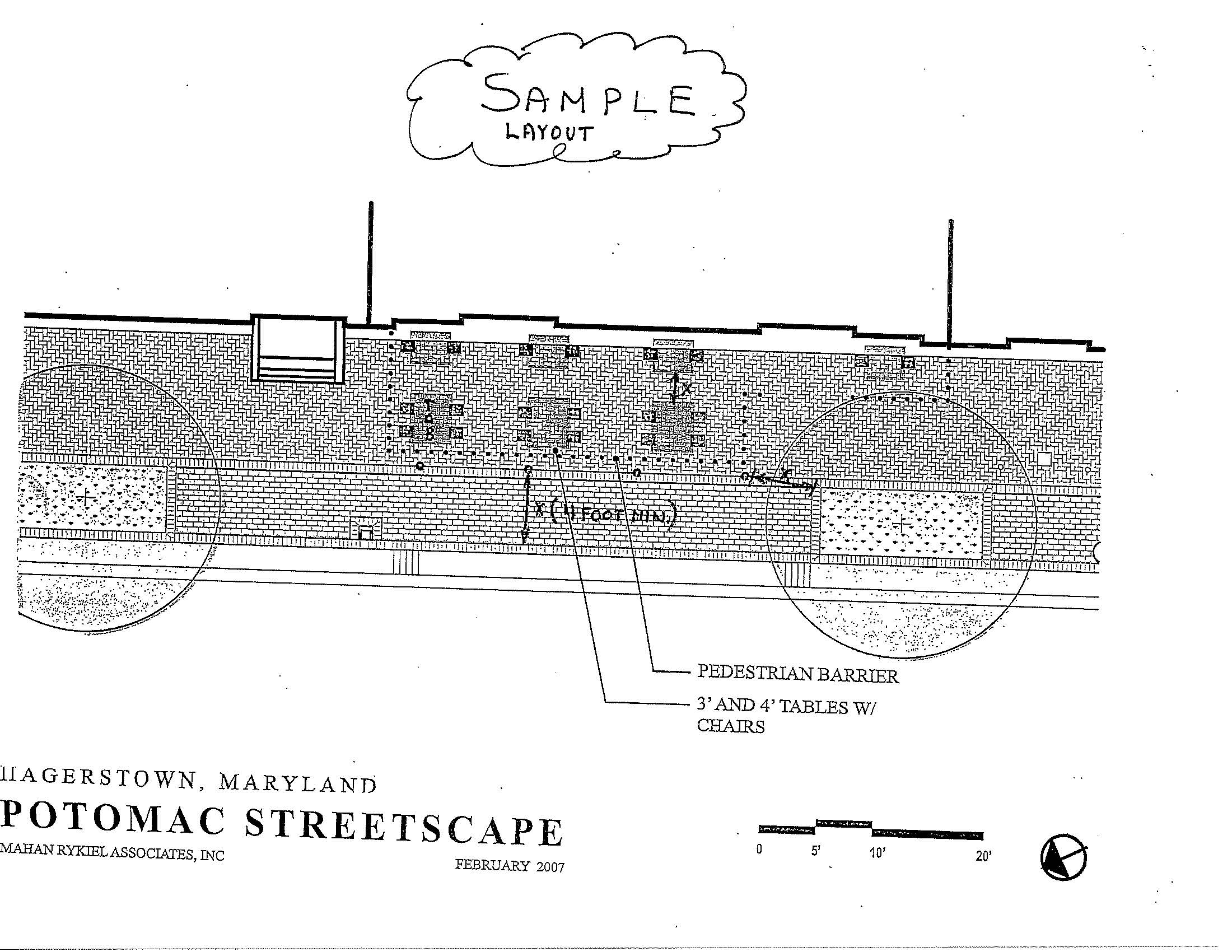 Sidewalk Cafe Site Seating Plan