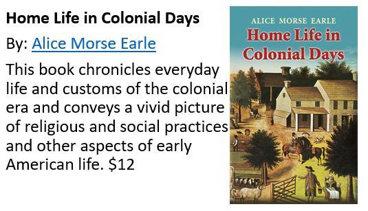 Colonial Home Life Book